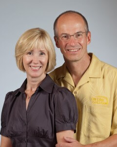 A picture of Milt and Kim Kruger, the owners of Langley On Line Collision.