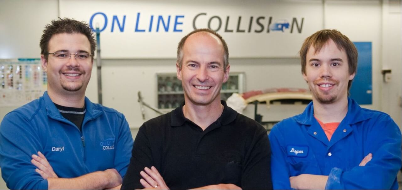 Daryl, Milt & Bryan On line Collision auto body repair Langley