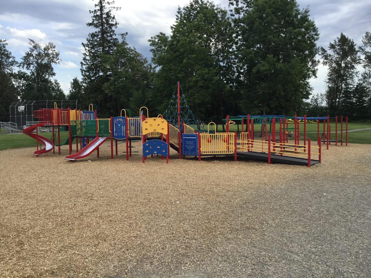 Alex Hope Elementary school playground On line Collision auto body repair Langley