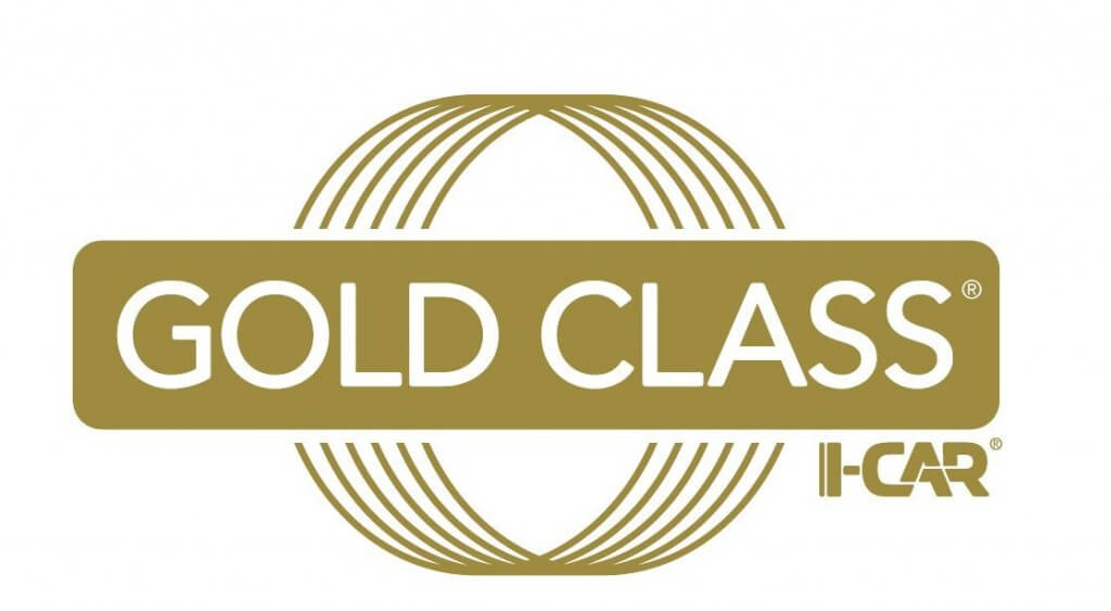 Gold Class Icar logo On line Collision auto body repair Langley