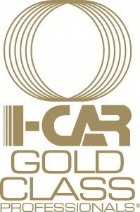Logo icar gold class On line Collision auto body repair Langley