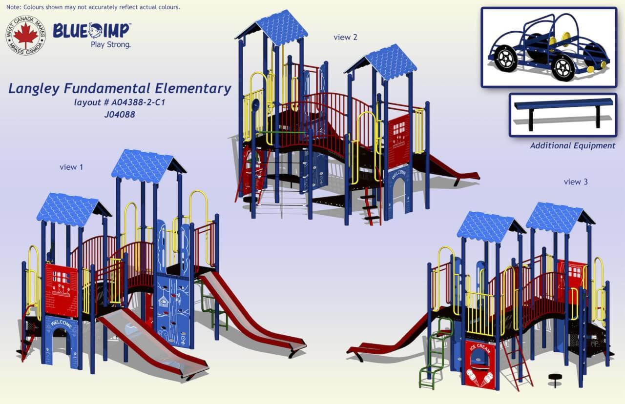 Langley Fundamental Elementary Playground on line Collision