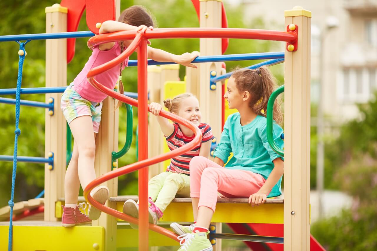 Kids playground On Line collision Initiative Langley
