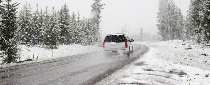 Langley auto body shop image of winter driving SUV On Line Collision